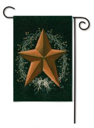 Outdoor Decorative Garden Flag - Rusty Star