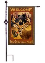 Outdoor Decorative Garden Flag - The Gang's all Here
