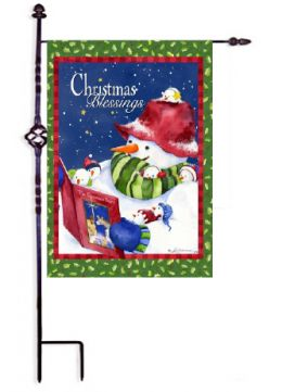 Outdoor Decorative Garden Flag - Christmas Blessings