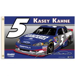 Kasey Kahne #5 Nascar Support 2-Sided 3' x 5' Flag w/Grommets