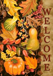 Welcome Harvest Fall Leaves Seasonal SolarSilk Flags
