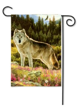 Outdoor Decorative Garden Flag - Summer Wolf