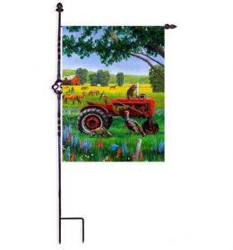 Tractor Critters Farm Life Decorative Outdoor Garden Flag