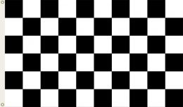 Checkered Nascar Fan Support 3' x 5' Flag w/Grommets