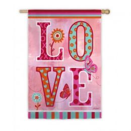 Love Valentine's Day Holiday Standard House Flag