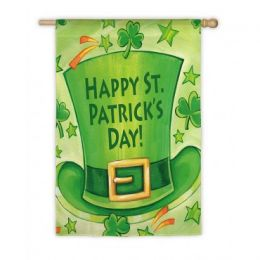 Outdoor Decorative House Flag - Leprechaun Hat