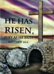 He Has Risen Easter Seasonal House Flag