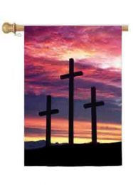 Three Crosses Easter Holiday Standard House Flag