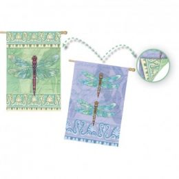 Outdoor Decorative House Flag - Garden Dragonfly