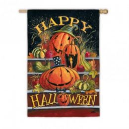 Happy Halloween Steps Fall Holiday Garden Flag