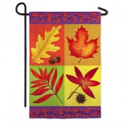 Fall Leaves Silk Reflections Fall Seasonal Garden Flag
