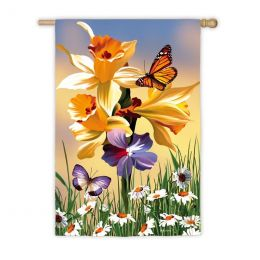 Daffodil Delight Spring Flowers Seasonal Garden Flag