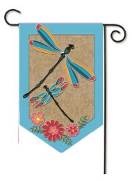 Outdoor Decorative Burlap Garden Flag - Dragonflies