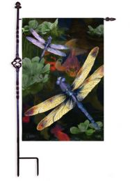 Dragonfly Suede Animal Spring Seasonal Garden Flag