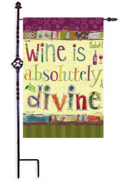 Divine Wine Sayings Funny Outdoor Garden Flag