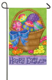 Happy Easter Basket Spring Seasonal Garden Flag