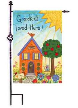 Grandkids Loved Here Decorative Outdoor Garden Flag