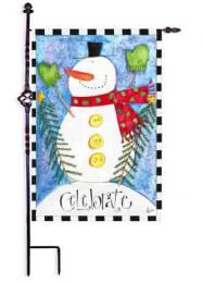 Outdoor Decorative Garden Flag - Celebrate Snowman