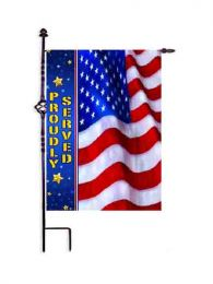 Troops Memorial Proudly Served Decorative Outdoor Garden Flag