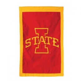 Double Sided Iowa State College Team Logo Flag Red & Gold