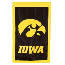 Double Sided Univ Of Iowa Flag College Team Logo