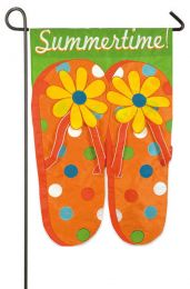 Summer Time Flip Flops Summer Seasonal Garden Flag