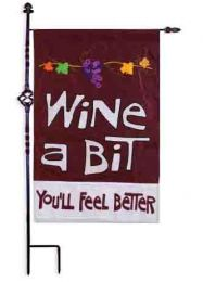 Wine a Bit Funny Sayings Seasonal Outdoor Garden Flag