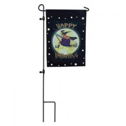 Witch Ride Halloween Fall Holiday Seasonal Garden Flag