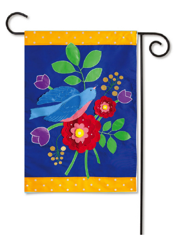 Outdoor Decorative Garden Flag Birds And Flowers