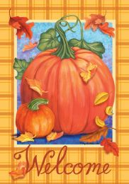 Welcome Pumpkin Fall Seasonal SolarSilk Colorful Flags