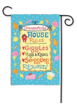 Outdoor Decorative Garden Flag - Grandparents' Rules
