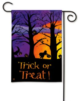 After Dark Halloween Trick or Treat Fall Holiday Garden Flag