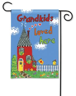 Outdoor Decorative Garden Flag - Grandkids Loved Here