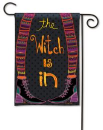 Witch is In Fall Seasonal or Halloween Garden Flag