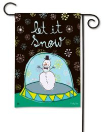 Outdoor Decorative Garden Flag - Snow Globe