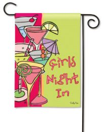 Girls Night In Breeze Art SolarSilk Fun Saying Garden Flag