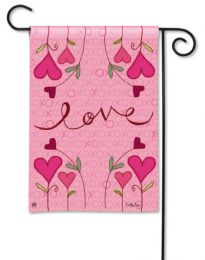 Hugs & Kisses Valentine's Spring Holiday Garden Flag