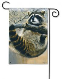 Racoon Garden Flag - Breeze Art Solar Silk Outdoor Flag