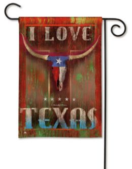 I Love Texas Decorative Outdoor Garden Flag