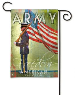 Army Military & American Flag Support Your Troops Garden Flag