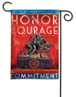 "United States Marines ""Honor Courage Commitment"" Garden Flag"