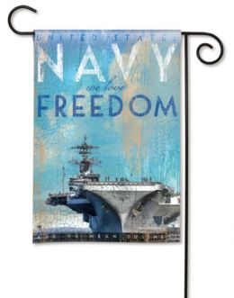 "United States Navy ""We Love Freedom"" Military Garden Flag"