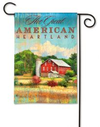 """The Great American Heartland"" Red Barn Garden Flag"
