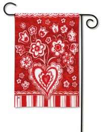 Holiday Folk Valentines Day Seasonal Outdoor Garden Flag