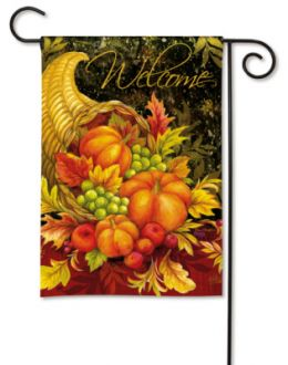 Bountiful Blessings Thanksgiving Day Holiday Garden Flag