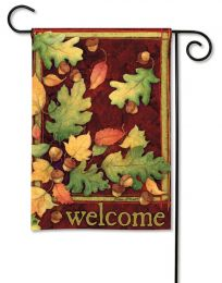 Leaves Falling Seasonal Outdoor SolarSilk Garden Flag
