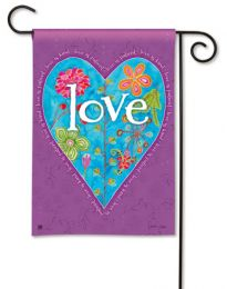 Love Heart Valentines Day - Spring Holiday Outdoor Garden Flag