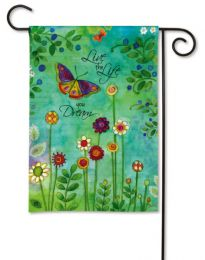Live Your Dream Inspirational Spring Decorative Garden Flag