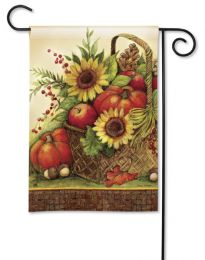 Fall Basket Seasonal Decor Outdoor SolarSilk Garden Flag