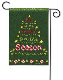 Reason for the Season Winter Holiday Sayings Garden Flag